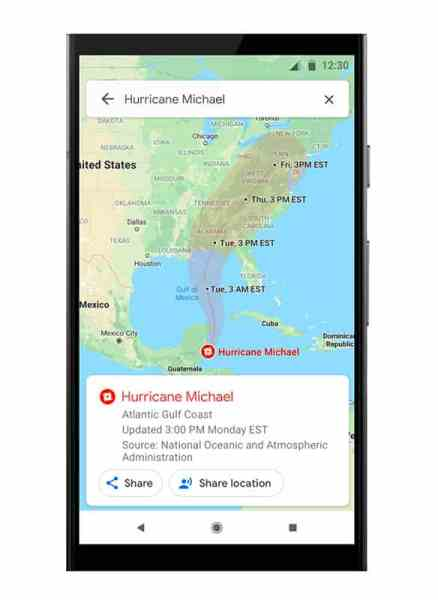 SOS Alert percorso ciclone