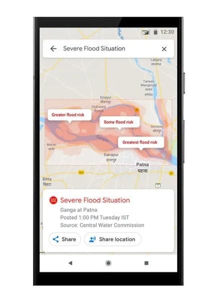 SOS Alert mappa rischio inondazione