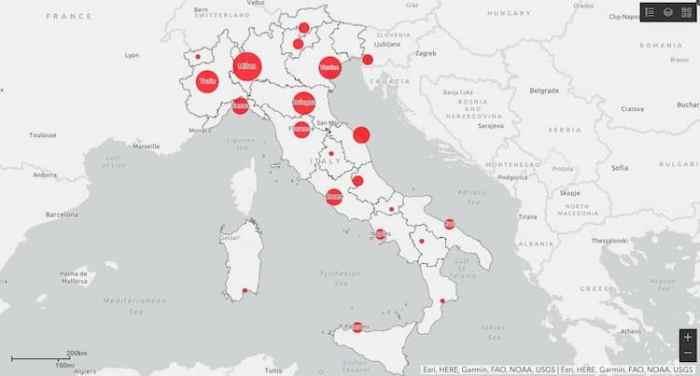 Regioni Più Colpite in Italia da Emergenza COVID-19