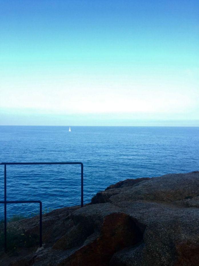 Vistas al mar desde el faro