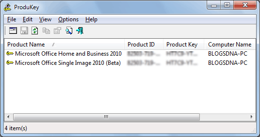 Recover Office 2010 Product Key