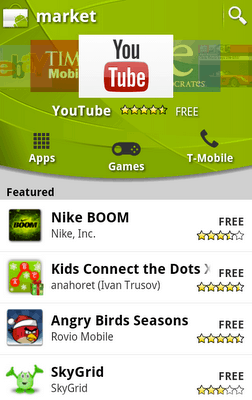 Android Market Homepage