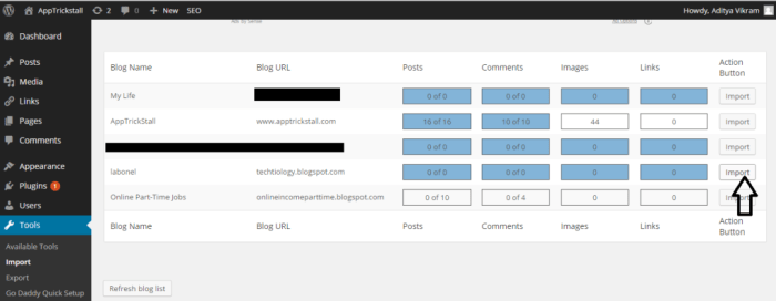 migrate your blog from blogger to wordpress