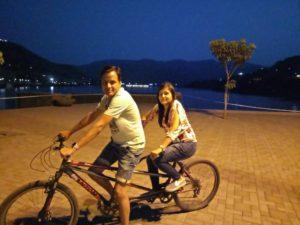 Parents Cycling