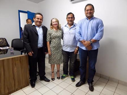 Rodrigo Costa (e) com o prefeito Josemar, a ex-secretária Rosany Aranha e o deputado Weverton Rocha
