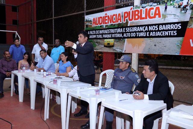 Audiência pública proposta por Wellington discutiu insegurança e a falta de infraestrutura em bairros dos municípios de São Luís e São José de Ribamar, como o Parque Vitória, Jardim Turu, Alto do Turu e adjacentes