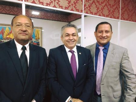 Vereador Marquinhos com o deputado Antônio Pereira e o colega Pavão Filho