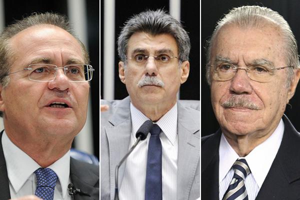 Renan Calheiros, Romero Jucá e José Sarney