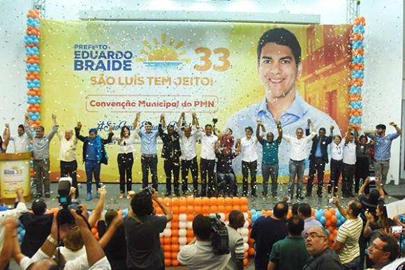 Convenção do PMN lança o deputado estadual Eduardo Braide candidato a prefeito de São Luís