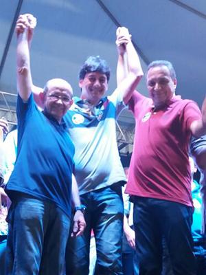 Hugo com Eudes Sampaio e Luís Fernando