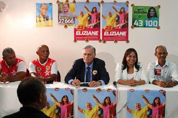Eliziane recebeu dos sindicalistas uma série de propostas para melhoria das condições de trabalho e
