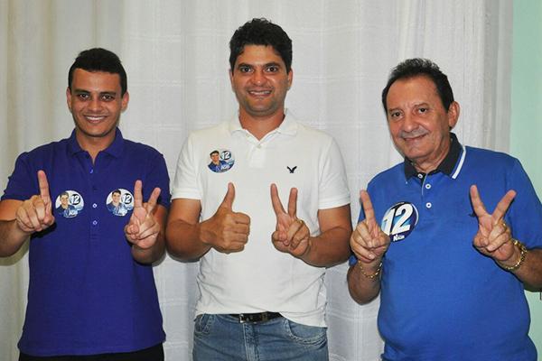 Deputado Glalbert Cutrim, candidato Francisco Nagib e o prefeito de Codó Zito Rolim