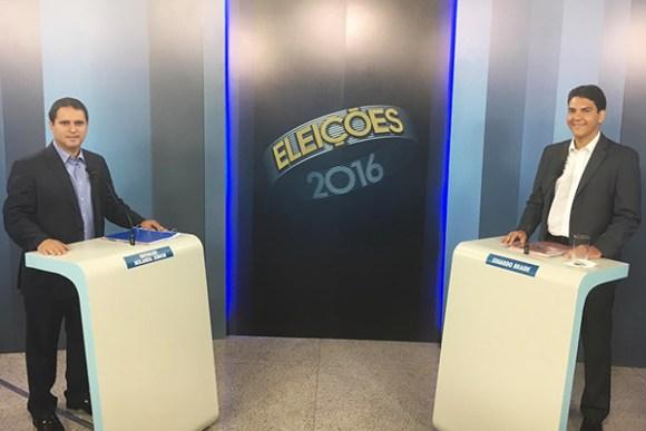 Candidatos Edivaldo Holanda Júnior e Eduardo braide debatem na TV Mirante