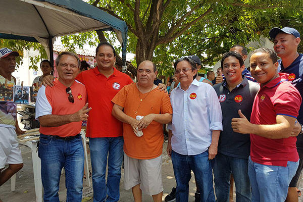 Hélio soares, Weverton Rocha, Astro de Ogum, Gutemberg Araújo, Osmar Gomes e Raimundo Penha