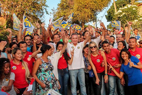 Luis Fernando fez campanha intensa em Ribamar, mesmo entrando na disputa como favorito