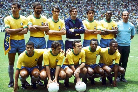 Carlos Alberto Torres (o primeiro na foto) foi o capitão da seleção do tri no México