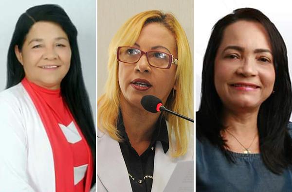 Vereadoras eleitas Fátima Araújo (PCdoB), Bárbara Soeiro (P e Concita Pinto (PEN)