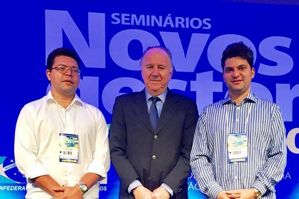 Vice Ricardo Torres, gente da Caixa Marcus Vinicius Rego e o prefeito eleito em Codó Francisco Nagib