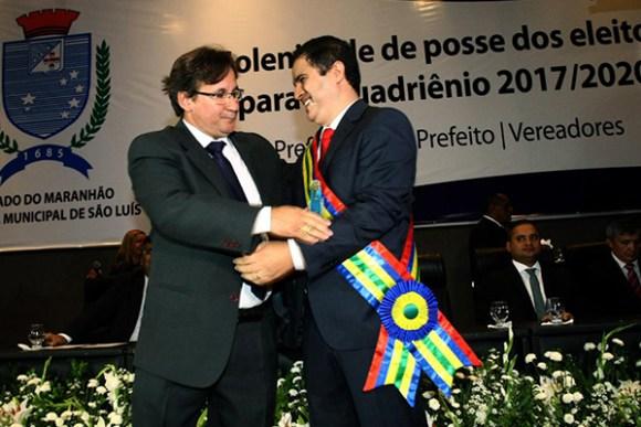 Prefeito Edivaldo Holanda Júnior e o vice prefeito Júlio Pinheiro tomam posse
