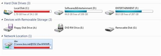 box.net network drive