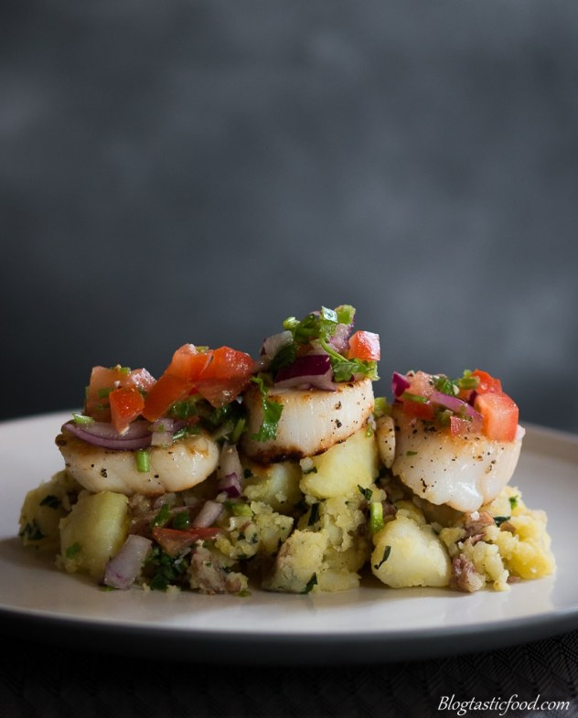 Seared scallops on crushed potatoes marked (5 of 1)