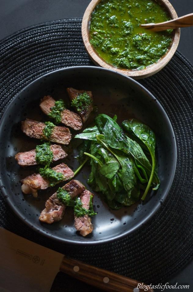 Sirloin Steak with Chimichurri Sauce (4 of 1)