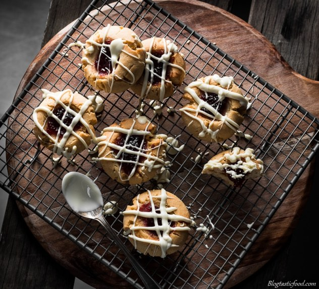 white chocolate drizzle peanut butter & jam cookies marked (4 of 1)