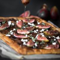 Caramelised Onion Tart with Roasted Figs and Feta