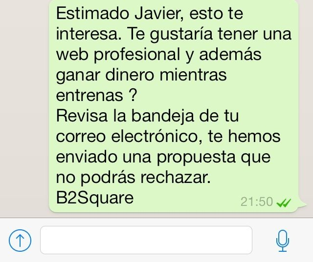 Vender con Whatsapp email