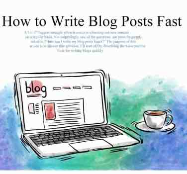 how to write blog fast
