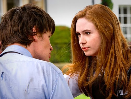 Matt Smith and Karen Gillan in their first Doctor Who story, The Eleventh Hour (c) BBC