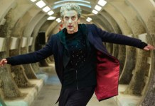 The Doctor (Peter Capaldi) is trapped in an underwater base under siege in Under the Lake (C) BBC Studios - Photographer: Simon Ridgway