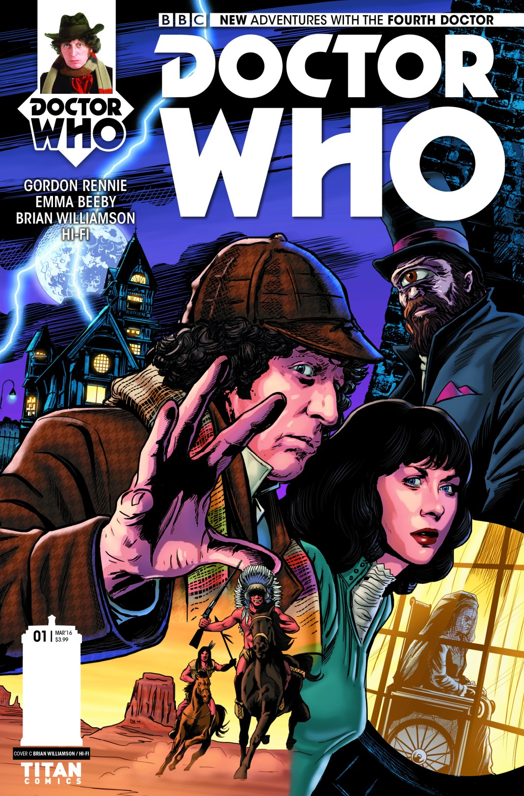 DOCTOR WHO: THE FOURTH DOCTOR #1 - Cover C Brian Williamson (c) Titan Comics