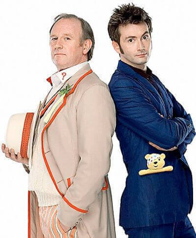 Peter Davison and David Tennant - Doctor Who Children In Need - Time Crash (c) BBC