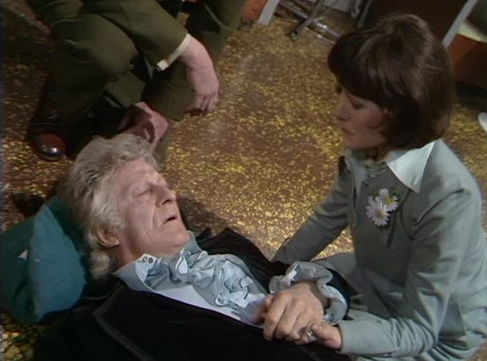 The Third Doctor (Jon Pertwee) and Sarah Jane Smith (Elisabeth Sladen) - Doctor Who - The Planet of the Spiders (c) BBC