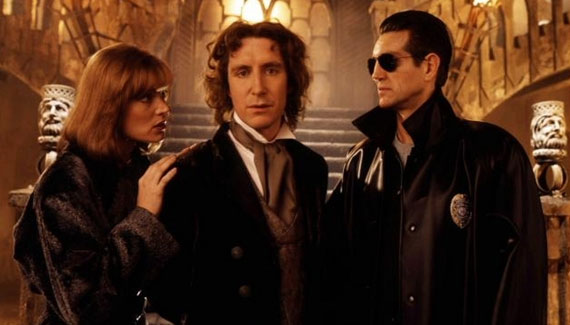 Grace Holloway (Daphne Ashbrook), The Doctor (Paul McGann) and Eric Roberts (The Master) - Doctor Who TV Film