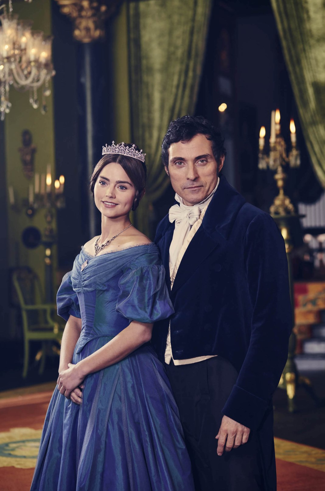 Jenna Coleman as Victoria and Rufus Sewell as Melbourne 'Victoria' TV show - 2016 - Photo by ITV/REX/Shutterstock