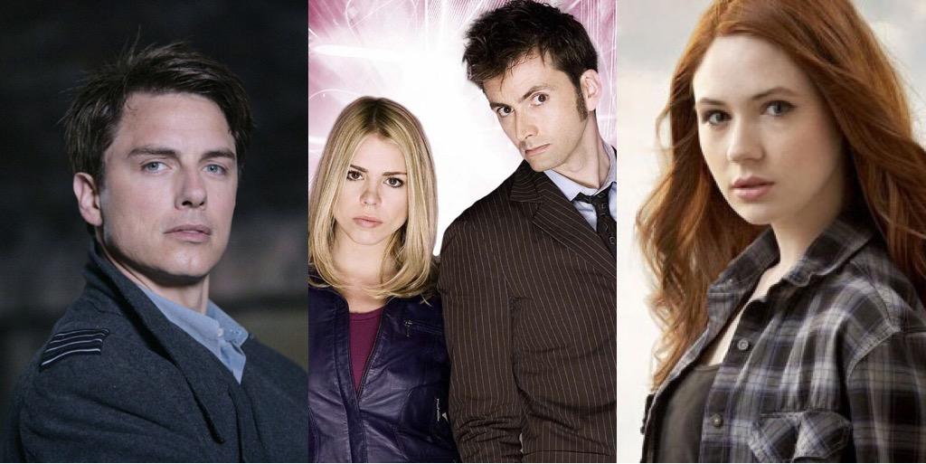 Doctor Who Stars John Barrowman, Billie Piper, David Tennant and Karen Gillan (c) BBC