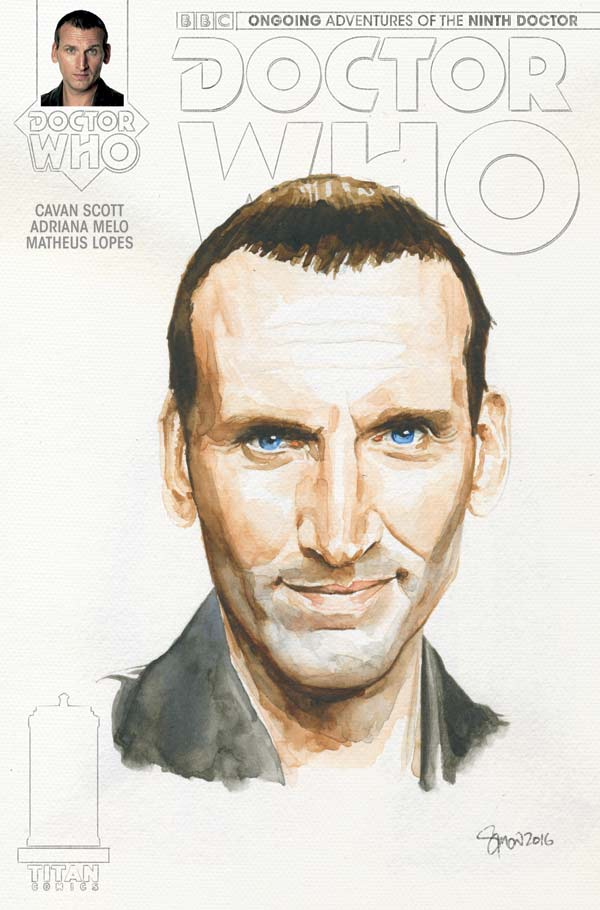 TITAN COMICS NINTH DOCTOR #5 COVER C BY SIMON MYERS - WATERCOLOUR VARIANT
