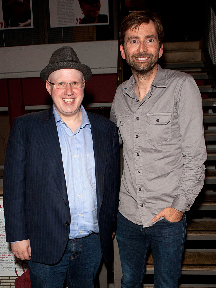 LONDON, ENGLAND - OCTOBER 04: (L-R) Matt Lucas and David Tennant attend the press night performance of