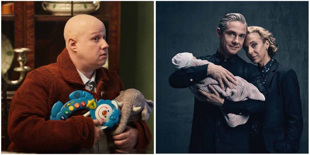 Doctor Who Xmas Special 2016 - Matt Lucas as Nardole - BBC - Photo: Simon Ridgway and 'Sherlock' Mary Watson (AMANDA ABBINGTON), Dr John Watson (MARTIN FREEMAN) - (C) Hartswood Films - Photographer: Steve Brown