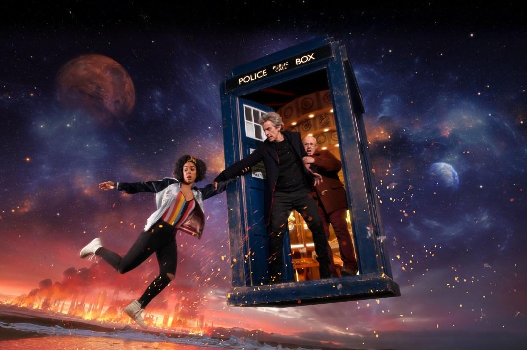 Doctor Who S10 - Bill (PEARL MACKIE), The Doctor (PETER CAPALDI), Nardole (MATT LUCAS) - (C) BBC/BBC Worldwide/Shutterstock - Photographer: Des Willie