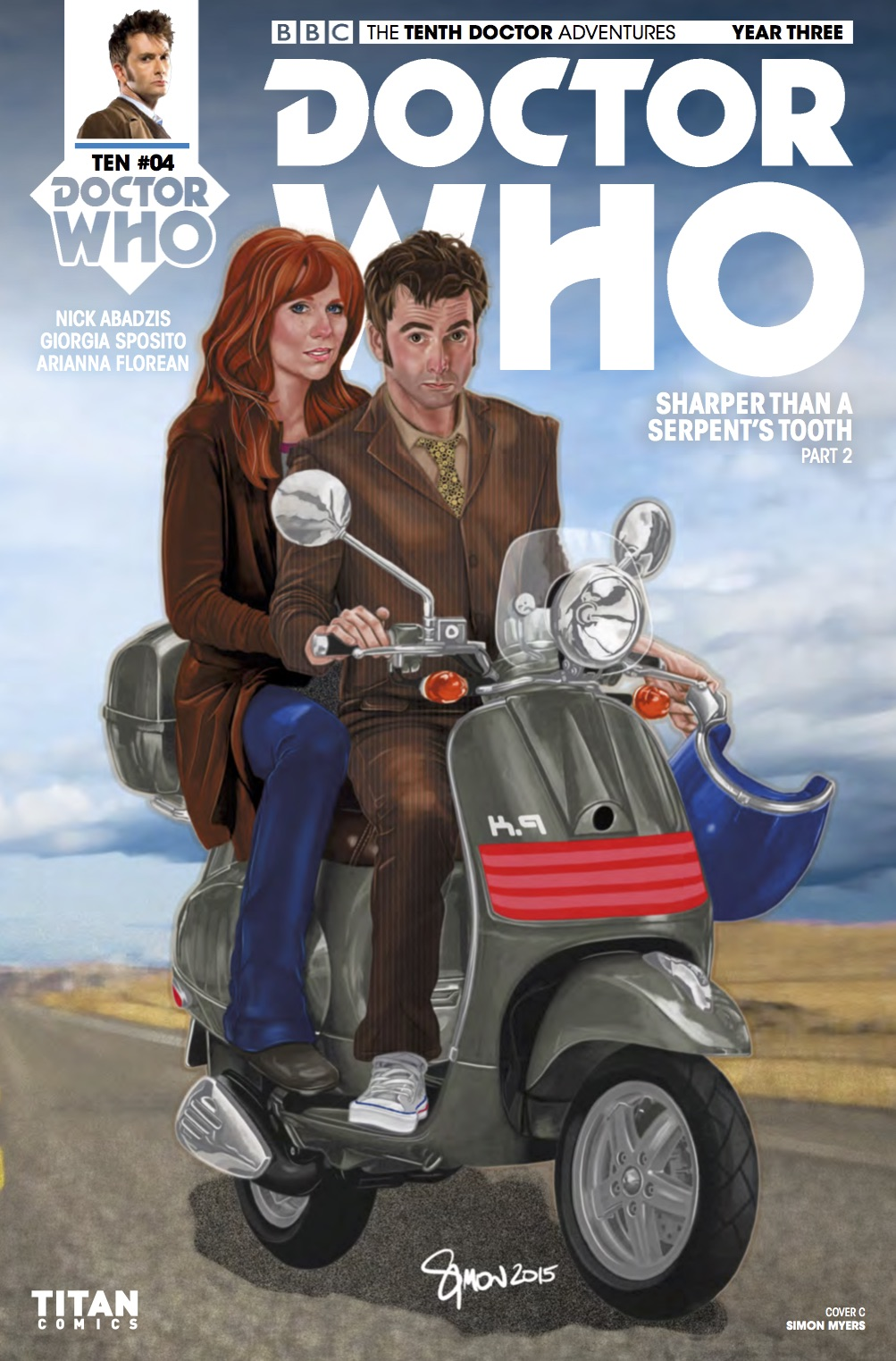 TITAN COMICS - DOCTOR WHO: THE TENTH DOCTOR YEAR THREE #4 COVER C: SIMON MYERS