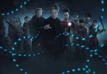 Doctor Who S10 - The Eaters of Light (No. 10) - Picture Shows: Ban (DANIEL KERR), Kar (REBECCA BENSON), Nardole (MATT LUCAS), The Doctor (PETER CAPALDI), Bill (PEARL MACKIE), Thracius (BEN HUNTER), Marcus (AARON PHAGURA), Vitus (SAM ADEWUNMI), Lucius (BRIAN VERNEL) - (C) BBC/BBC Worldwide - Photographer: Simon Ridgway