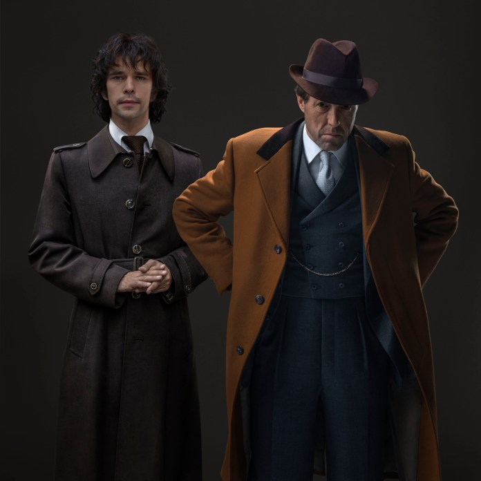 A Very English Scandal - Jeremy Thorpe (HUGH GRANT), Norman Scott (BEN WHISHAW) - (C) BBC/Blueprint/Amazon/Sony - Photographer: Ray Burmiston and Sophie Mutavelian