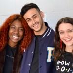 Vivian Oparah (Tanya Adeola), Fady Elsayed (Ram Singh) and Sophie Hopkins (April MacLean) 1