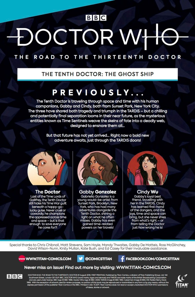 Doctor Who - The Road to The Thirteenth Doctor - Previously - Titan Comics