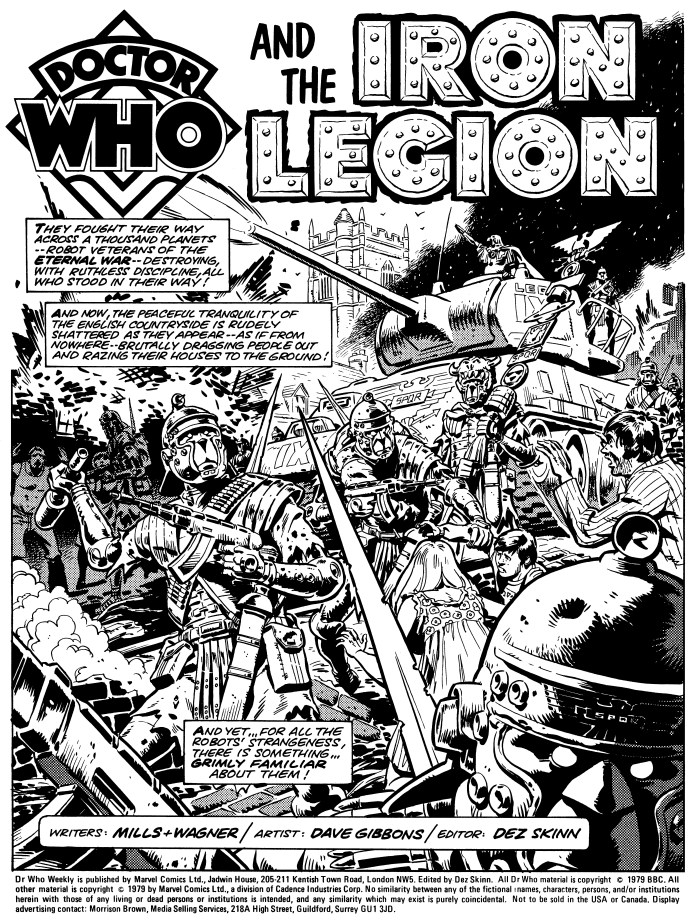 Doctor Who and the Iron Legion Pg1 (c) Panini