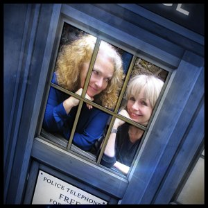 Leela (Louise Jameson) and Romana (Lalla Ward)