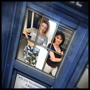 Professor River Song (Alex Kingston) and Professor Bernice Summerfield (Lisa Bowerman)